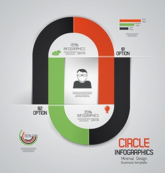 infographics 4 vector image vector image