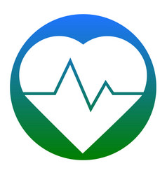 heartbeat sign white icon in vector image vector image