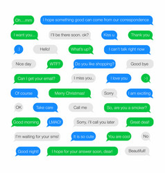 sms bubbles template for messenger with short vector image vector image