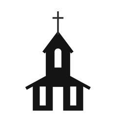 Church simple icon vector image vector image