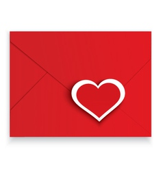 Heart stickers red envelope vector image