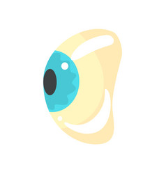 human blue eye ophthalmology concept cartoon vector image