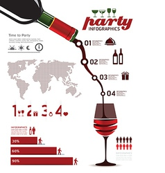 infographics set and Information party Graphics vector image vector image
