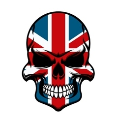 Skull tattoo with United Kingdom flag pattern vector image vector image