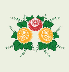 Slavic national floral ornament for use in vector