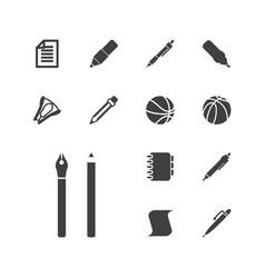 13 pen icons vector