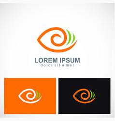 abstract eye circle logo vector image