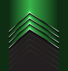abstract green silver arrow direction on dark gray vector image