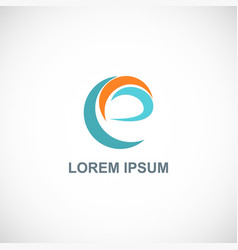 Abstract letter e loop logo vector