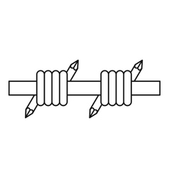 Barbed wire icon outline style vector