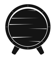 barrel on legs icon simple style vector image