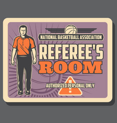 basketball referee sport game vector image