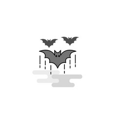 bat web icon flat line filled gray icon vector image