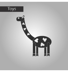 black and white style toy giraffe vector image