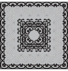 Black classic frames vector