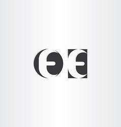 black letter e icons logotype vector image