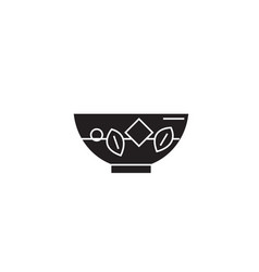 Blanching vegetables black concept icon vector