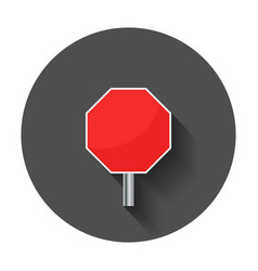 blank red stop sign icon empty danger symbol with vector image