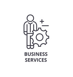 business services line icon outline sign linear vector image