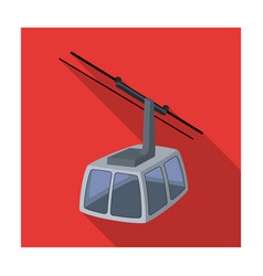 cable car funicular for climbing in the mountains vector image