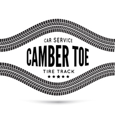 Camber and toe-car service vector