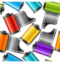 Camera film roll cartridge background pattern vector