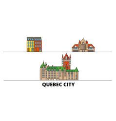 canada quebec city flat landmarks vector image