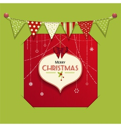 Christmas bauble lable insert vector