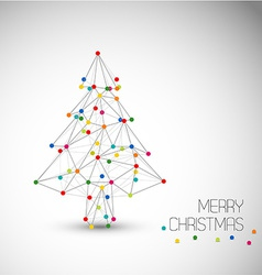 Christmas tree abstract vector