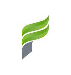 creative letter f square logo template logo vector image