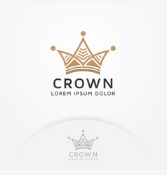crown logo design vector image
