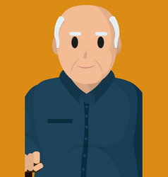 Cute grandfather profile vector