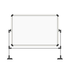 empty white board vector image