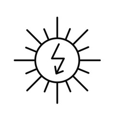 energy of sun icon outline style vector image