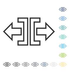 Expand horizontal icon vector