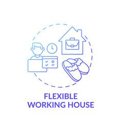 Flexible working house concept icon vector