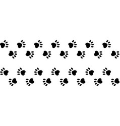 footprints paws dog cat trail animal vector image