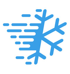 Frost snowflake with fast motion effect vector