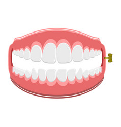 funny teeth joke vector image