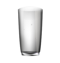 glass empty glass isolated vector image