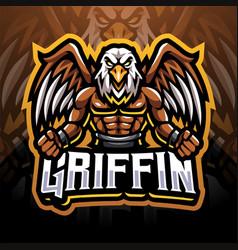 Griffin esport mascot logo vector