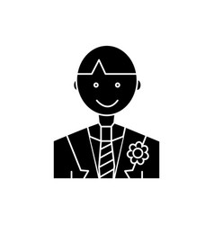 groom icon sign on isolate vector image