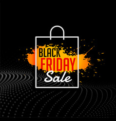 grunge style black friday sale shopping bag vector image