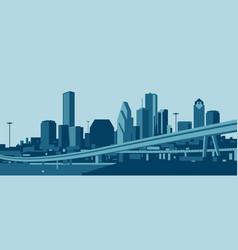 Houston texas skyline vector