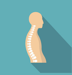 Human spine icon flat style vector