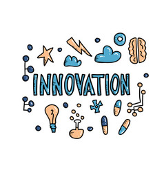 Innovation concept in doodle style design vector