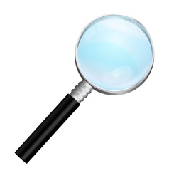 isolated realistic magnifying vector image