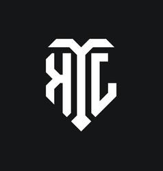 Kj logo monogram design template vector