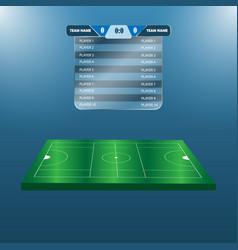 lacrosse football soccer scoreboard chart vector image