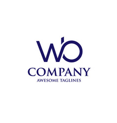 Letter wb logo design vector